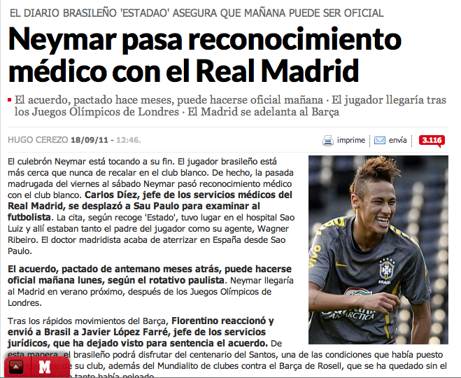 Fichaje de Neymar Marca