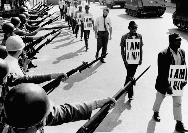"Civil Rights Marchers with ""I Am A Man"" Signs"