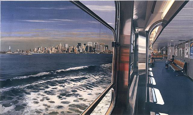 R.ESTES. View of Manhattan from Staten Island Ferry. 2008