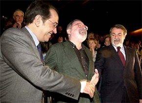 Mayor Oreja, Savater y Redondo Terreros.